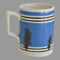Antique Mocha Mochaware Mug in Half Pint Size