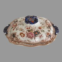 Antique Asiatic Pheasant Covered Vegetable Tureen by Ridgways