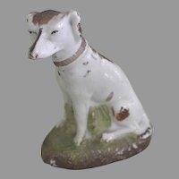 Antique Molded Whippet Dog Figure