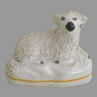 Antique Staffordshire Sheep Lamb