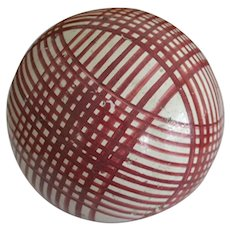 Antique Victorian Carpet Ball in Cranberry