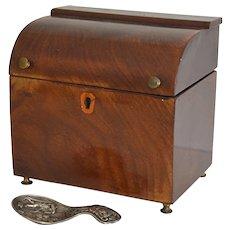 Antique Mahogany Tea Caddy , Unusual Form