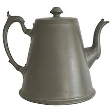 Antique Pewter Teapot From Montreal Ocean Steamship Co.