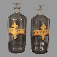 19th C Apothecary Druggist Bottles