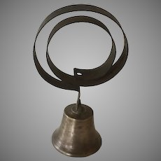 Antique Brass Bell from a Victorian Servant's Kitchen