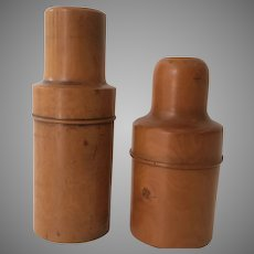 Treen or Wooden Medicine Containers Jars