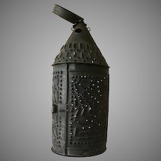 Pierced Punched Toleware Lantern