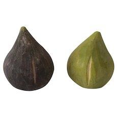 Vintage Alabaster Stone Figs