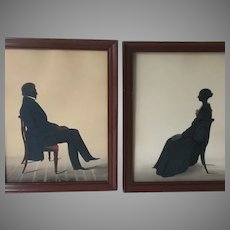 Antique Silhouettes by Herve 1830