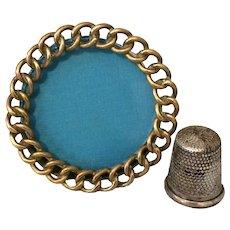Miniature Round  Brass Ring Frame