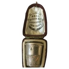 Antique American Thimble Holder Box