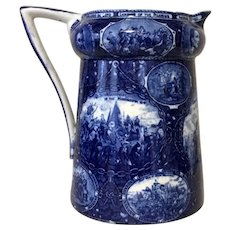 American Historical Blue and White Jug
