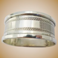 Sterling Silver Napkin Ring Holder from 1964