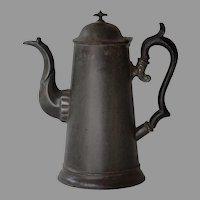 Antique Tole Tin Coffee Pot