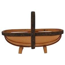 Vintage English Trug Basket Carrier