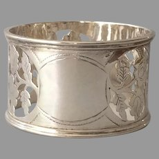 Sterling Silver Openwork Napkin Ring from Birmingham 1909