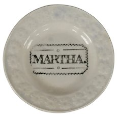 Antique Staffordshire Martha Child's Plate in Pearlware