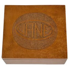 Antique Bird's-eye Jane Document Box