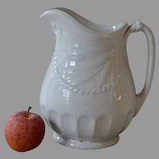 Antique White Ironstone Furnival Water Jug