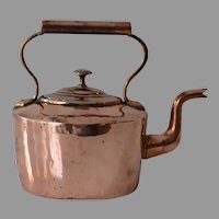 Antique Georgian Copper Kettle in Small Size