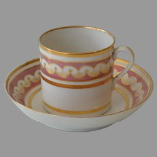 Antique Coalport Coffee Can and Saucer 1805