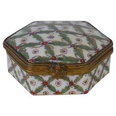 French Enamel Sevres Box