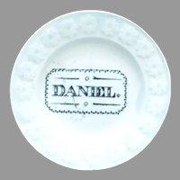 Antique Staffordshire Child's Plate Daniel