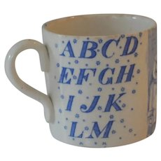 Antique Little jack Horner Alphabet Mug