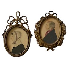 Antique Miniature Folk Portraits