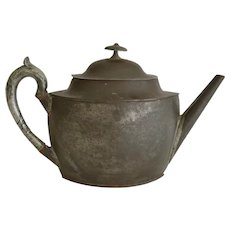 Early Tole Toleware Teapot