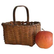 Antique Miniature Splint Woven Basket