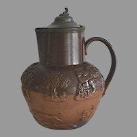 English Salt Glaze Stoneware Jug by Doulton Lambeth