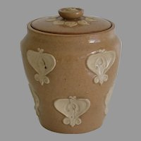 Antique Doulton Lambeth Tobacco Jar Humidor after William Morris