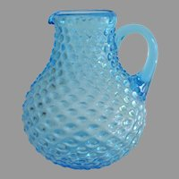 Victorian Hobnail Turquoise Water Jug