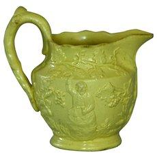 Antique Miniature Salt Glazed Yelloware Jug