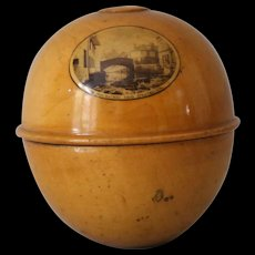 Antique Mauchline Ware Knitting Ball