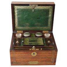 Antique Rosewood Compendium Vanity Travel Box
