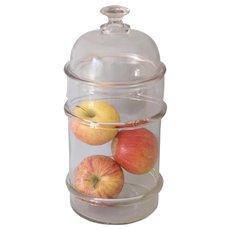 Antique Apothecary Druggist Glass Jar
