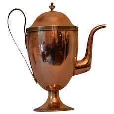 Antique Georgian Copper Coffee Pot
