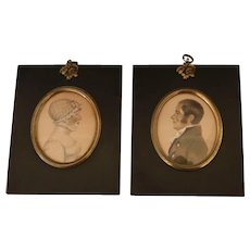 Pair of Miniature Georgian Portraits