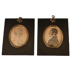 Pair of Miniature Georgian Portraits