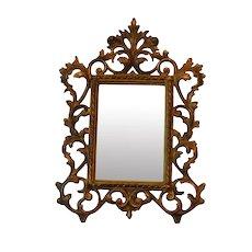 Antique Cast Iron Mirror Frame