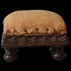 Antique Folk Pin Cushion in Footstool Form