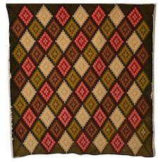 Antique Tapestry Needlepoint Cushion Pillow Cover