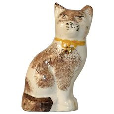 Antique Staffordshire Cat from 19thC