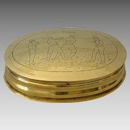 Antique Boxing Tobacco Box Commemorating Sayers Heenan Championship Fight