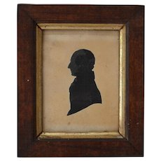 Antique Georgian Silhouette Portrait by E. Whittle