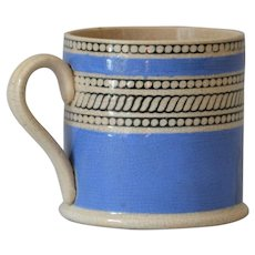 Antique Child's Mocha Mochaware Mug from the Early 19thC