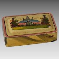 Antique Decorated Toleware Snuff Box of American Origin