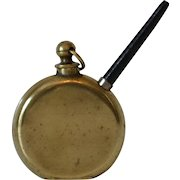 Antique Novelty Inkwell in Pocket Watch Motif